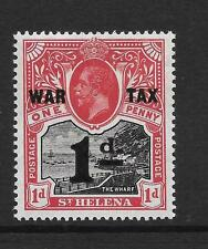ST HELENA, KGV 1919  WAR TAX, 1d OVPT , SG 88, L/M/MINT, SINGLE