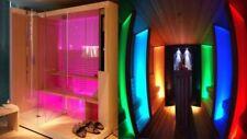 Faretto Cromoterapia da incasso acciaio LED RGB impermeabile per doccia sauna