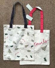 BNWT Radley Pack Of 2 Canvas Large Shopper Shoulder Bags TOTE BAG Happy Travels