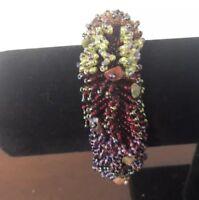 Colorful Boho Glass Seed Bead & Stone Stretch Bracelet