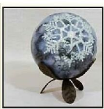 """HABERSHAM CANDLE COMPANY FIRST FROST 4"""" SPHERE CANDLE"""