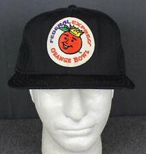 Vintage 80's Fedex Orange Bowl CU Buffs AJD Snapback Black Hat Made In USA