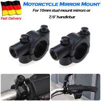 Paar Spiegelhalter M10-Gewinde Spiegel Halterung für 7/8'' 22mm Motorrad Lenker