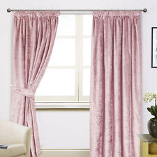 Scarpa Crushed Velvet Tape Top Pair Of Curtains With Optional Beaded Accessories