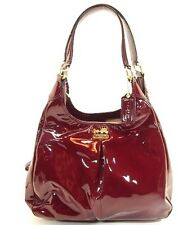 COACH Madison Patent Leather Maggie HandBag purse 21238 Crimson RED