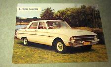 1962 FORD FALCON XL  Weetbix Australia Swap Trade Card