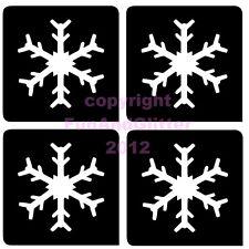 FG100 - 5 x 4 MINI SNOWFLAKE STENCIL for Glitter and Ink Tattoo's