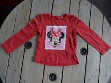 T-shirt magique Mickey et Minnie manches longues rouge clair DISNEY Taille 6 ans