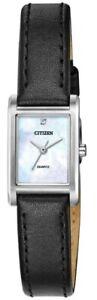 Citizen Women's Quartz Diamond Accent Mother of Pearl Dial 18mm Watch EJ6121-01D