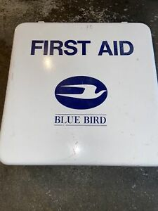 Blue Bird Pac Kit White Metal First Aid Kit Complete With Medial Supplies