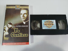 YO I CONFESS ALFRED HITCHCOCK MONTGOMERY CLIFT VHS TAPE TAPE SPANISH