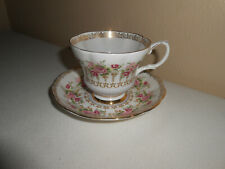 Royal Albert England Bone China GREEN PARK SERIES Pink Rose Tea Cup & Saucer Duo