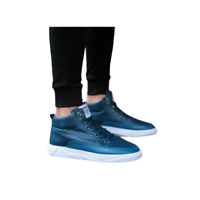 Mens Breath Sneakers Lace Up High Top Ankle Boots Athletic Sport Running Shoes