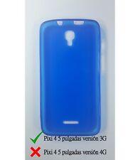 Funda de gel TPU carcasa protectora silicona para Alcatel Pixi 4 5.0 3G Azul