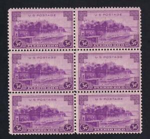 USA 1937 Territorial Issue-Puerto Rico, MNH pane of 6, sc#802  [U29]