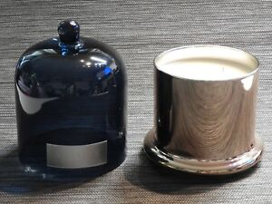 2 Sets Algarve Zodax Large Apothecary Guild  Scented Candle Blue Gold 3 Wicks