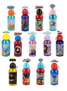 Kids Character Aluminium School Water Bottles 400 ML ideal Gift for Boys & Girls