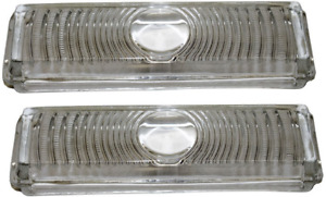 47-53 Chevy Truck Front LH & RH Clear Turn Light Parking Lamp Lenses