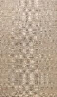 Checked Brown Ivory Gabbeh Oriental Area Rug Wool Hand-knotted Modern Carpet 6x9