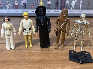 Vintage Star Wars Action Figures Job Lot Original First 12 Bundle Luke Leia