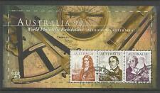 AUSTRALIA 1999 Exhibition NAVIGATORS S/Sheet BASS KING DAMPIER CTO