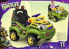 NUOVO Teenage Mutant Ninja Turtles Ride-on 6 V auto elettrica bambini età 3+