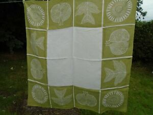 LUCIENNE DAY TABLECLOTH, POMEGRANATE, 1961, THOMAS SOMERSET & CO. RARE .......