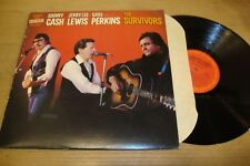 Cash, Lewis, Perkins - The Survivors - LP Record  VG+ VG