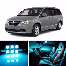 9pcs LED ICE Blue Light Interior Package Kit for Dodge Grand Caravan 2008-2015