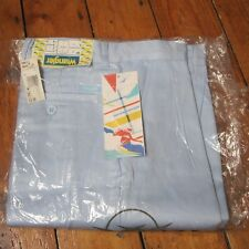 "Wrangler Vintage 80s 90s Pale Sky Blue Casual Trousers Chinos W28"" L34"" NEW!"