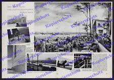 Weltflughafen Frankfurt Besucher Rollfeld Reichsautobahn Zeppelin Luftfahrt 1936