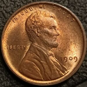 1909 VDB Lincoln Wheat Cent Penny 1c GEM BU+ Uncirculated Nice Detail P2268