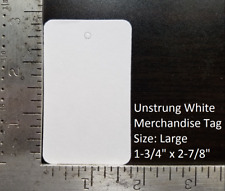 Blank White Garment Tags Unstrung Merchandise Price Jewelry Coupon Store Large