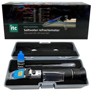 ITC LED Refractometer Salinity Easy Read Scale Marine Reef Aquarium Fish Tank