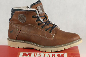 Mustang Ankle Boots Lace up Boots Braun 5017 New
