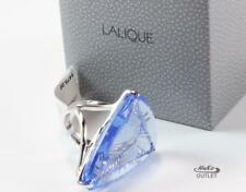 LALIQUE ICE LIGHT BLUE CRYSTAL 925 STERLING SILVER RING, Sz US-7/T55/UK-O