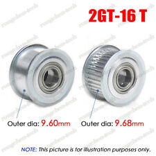 2GT-16T Timing Belt Pulley Idler Sheave 3mm Bore W/Ball Bearing for 6/10mm Belt
