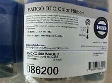Genuine Fargo 86200 DTC Ribbon YMCKO Color Ribbon  500 Images for DTC550 - New