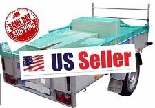 Super Heavy Duty Rope Cargo Net Truck Trailer Dumpster Cover 7x11 With Hooks