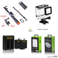 Kit Accessori Action Cam Gopro hero 5/6 Custodia Caricabatterie Asta Selfie