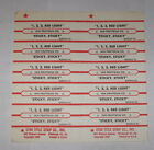1910 Fruitgum Co Full Sheet of 10 Jukebox Title Strips 1 2 3 Red Light Sticky
