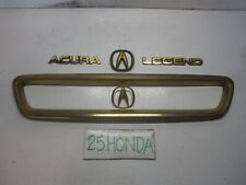 1991-1993 Acura Legend Sedan Gold Package + Grill Emblem Set OEM JDM KA7 Rare