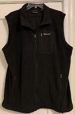 Marmot Logo Polartec Fleece Full Zip Sweater Vest Men's Sz XXL!