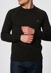 Merc London Berty Marl Khaki Jumper
