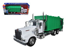 Kenworth W900 Garbage Truck in Green 1 32 Scale Moving Parts Diecast Metal and