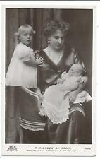 ROYALTY  - QUEEN of SPAIN with CHILDREN Beagles Real Photo Postcard