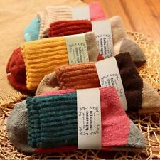 5 Pairs Japanese Thermal Women Socks Winter Warm Rich Wool Casual HOT