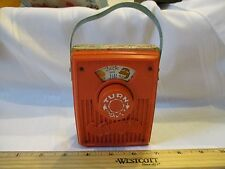 Vintage Fisher Price Pocket Radio Music Box works Jack Jill Hill went up hill