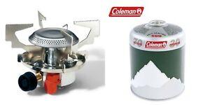 Fishing Stove + Piezo Ignition Camping Cooker + 1 X Coleman C500 Gas cartridge