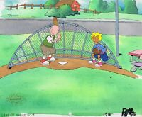 DOUG FUNNIE ORIGINAL 1990'S HAND PAINTED PRODUCTION CEL BASEBALL